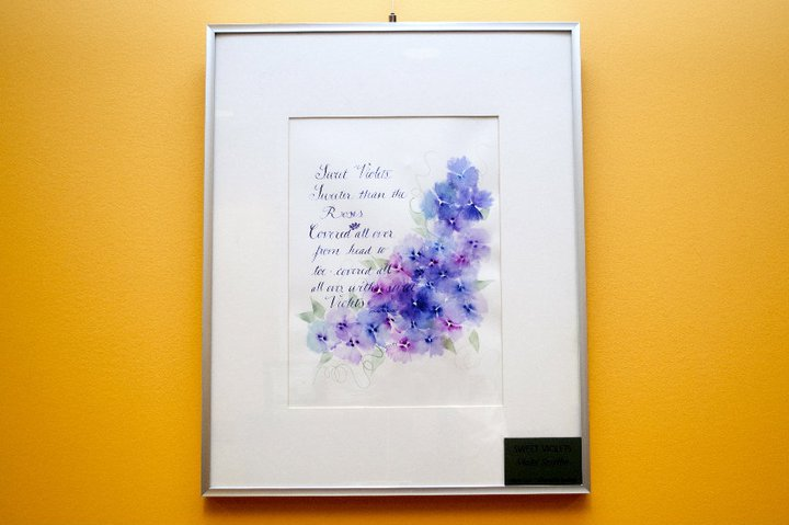 """Westcoast Calligraphy Society's """"Letters to the Garden"""""""