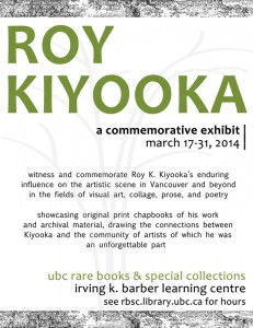 Roy Kiyooka exhibition poster copy small