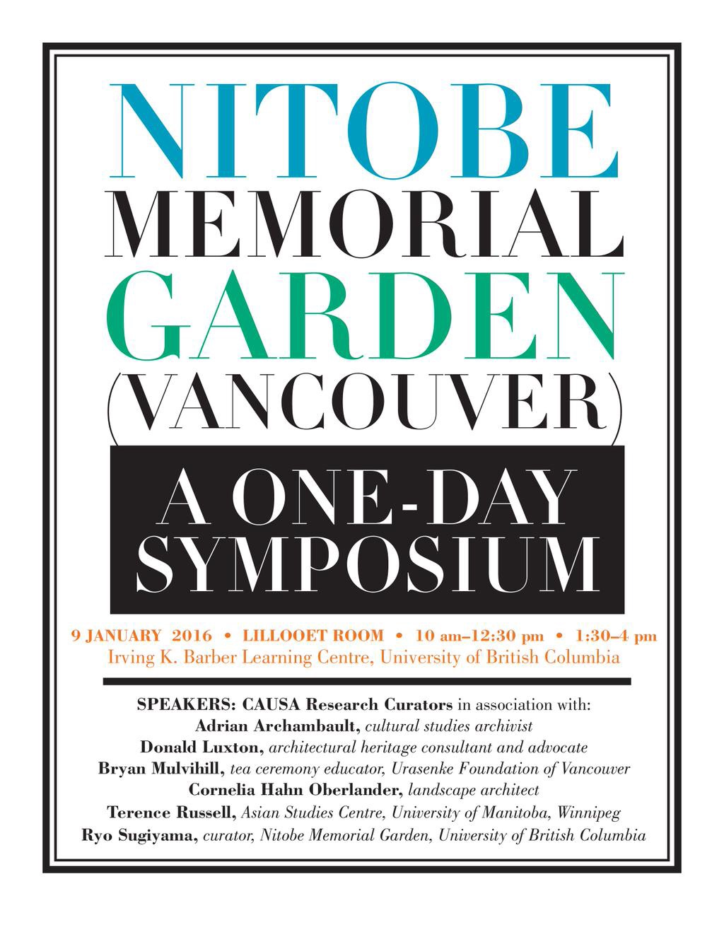 nitobe symposium poster